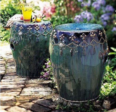 Garden stools the versatile home accent belle and june for Outdoor garden stool
