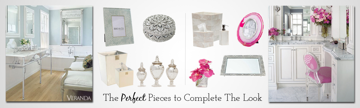 Bathroom accents, perfect pieces to complete the look