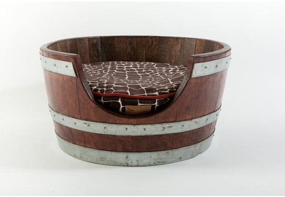 Wine Barrel Pet Bed Kalahari