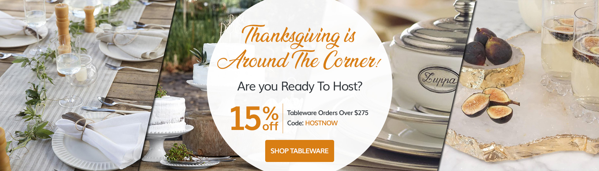 Decorate Your Thanksgiving Table In Style and SAVE