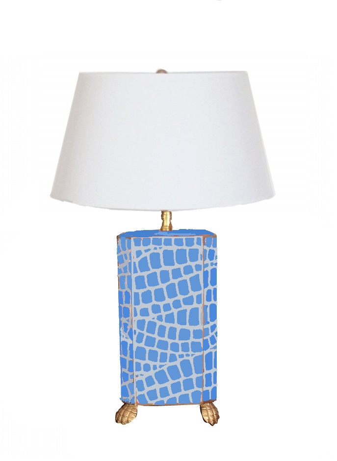Blue Crock Lamp