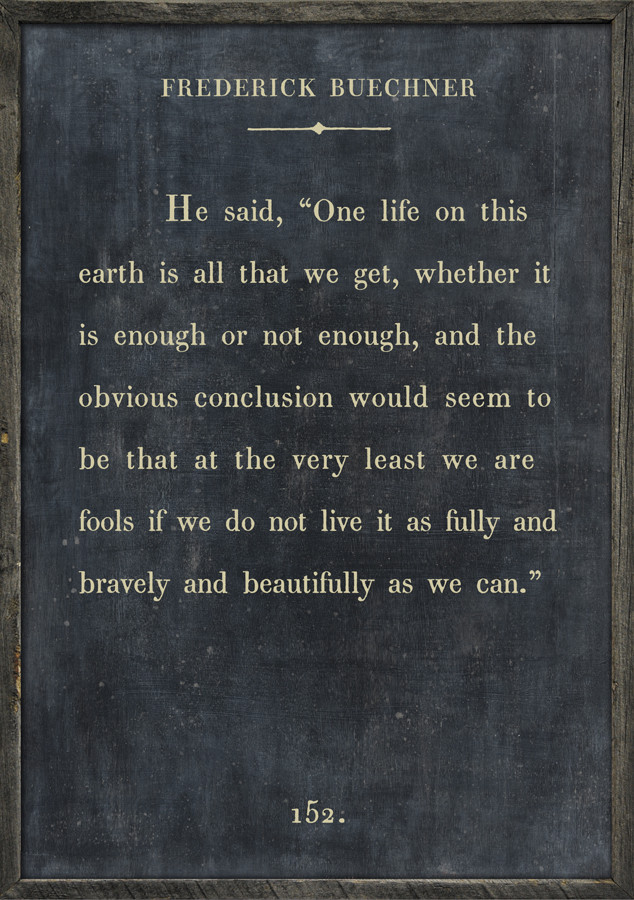 The Book Collection Frederick Buechner Art Print - Charcoal