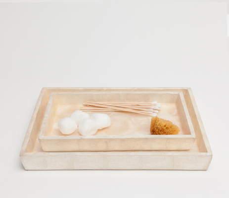 Andria Nesting Trays - Pearlized (Set Of 2)
