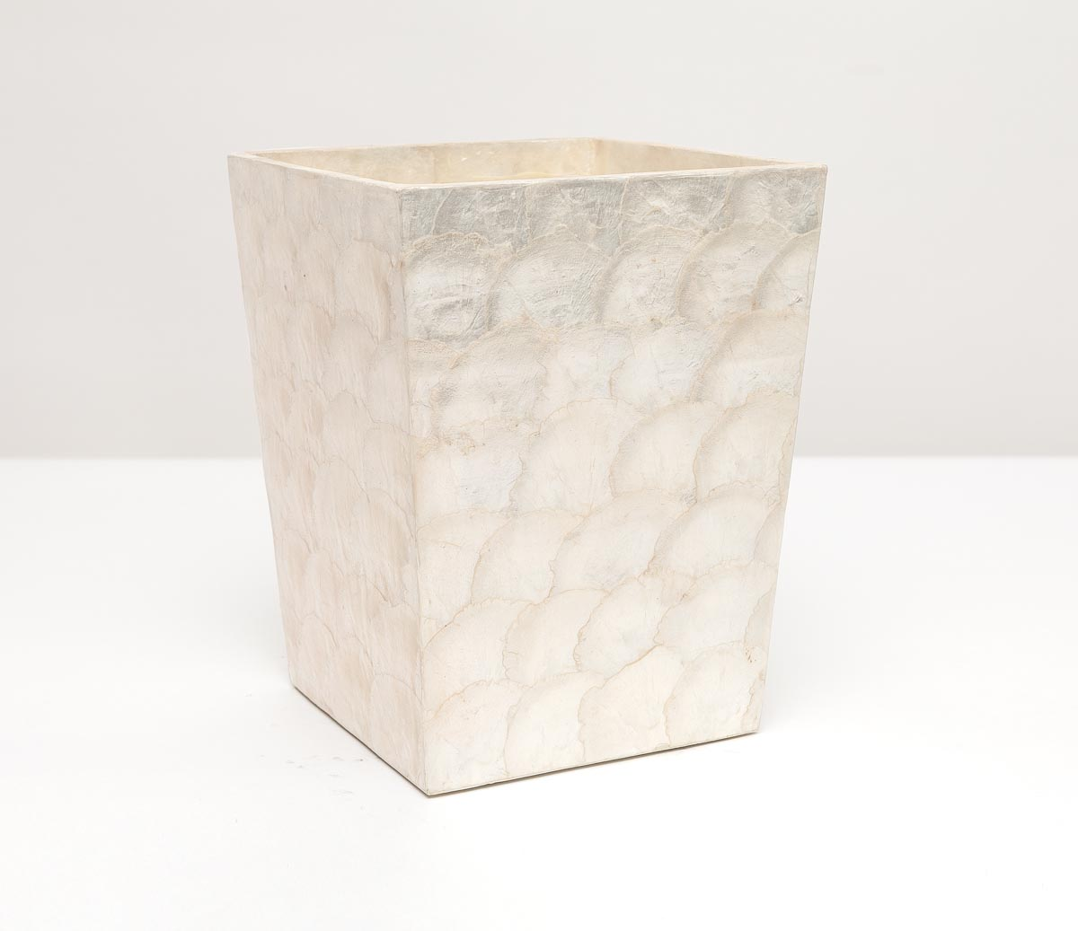 Andria Waste Basket Square - Pearlized
