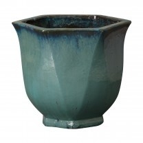 Hexagon Teal Planter