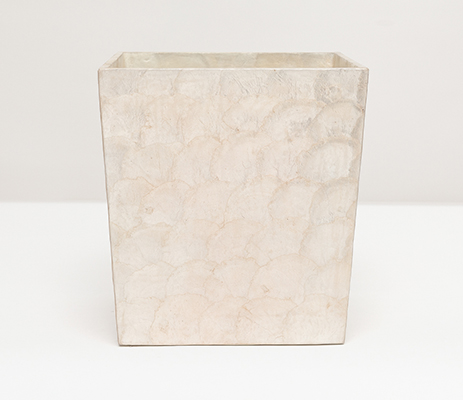 Andria Waste Basket Rectangular - Pearlized
