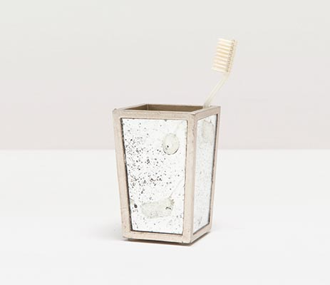 Atwater Brush Holder - Silver Leaf