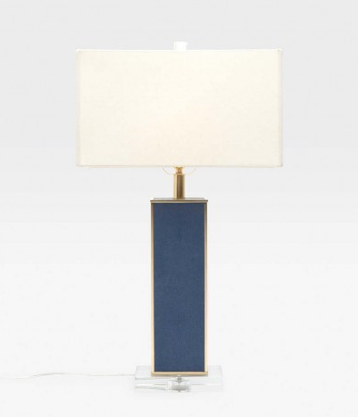 Kingston Lamp Navy Faux Shagreen