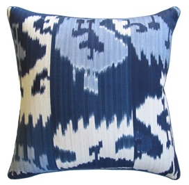 Harry Twill Blue Decorative Pillow