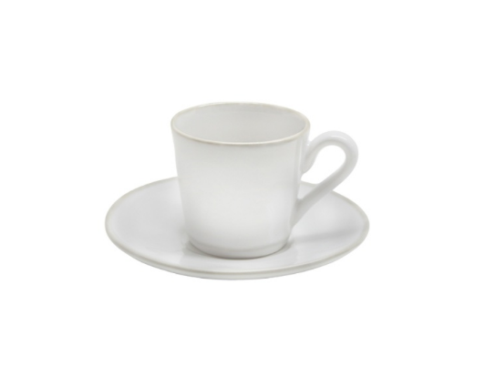 Astoria White Coffee Cup & Saucer
