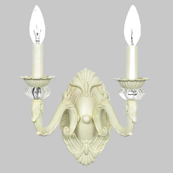 Double Sconce - Ivory