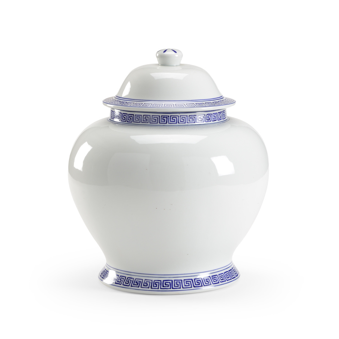 Athena Blue and White Decorative Urn
