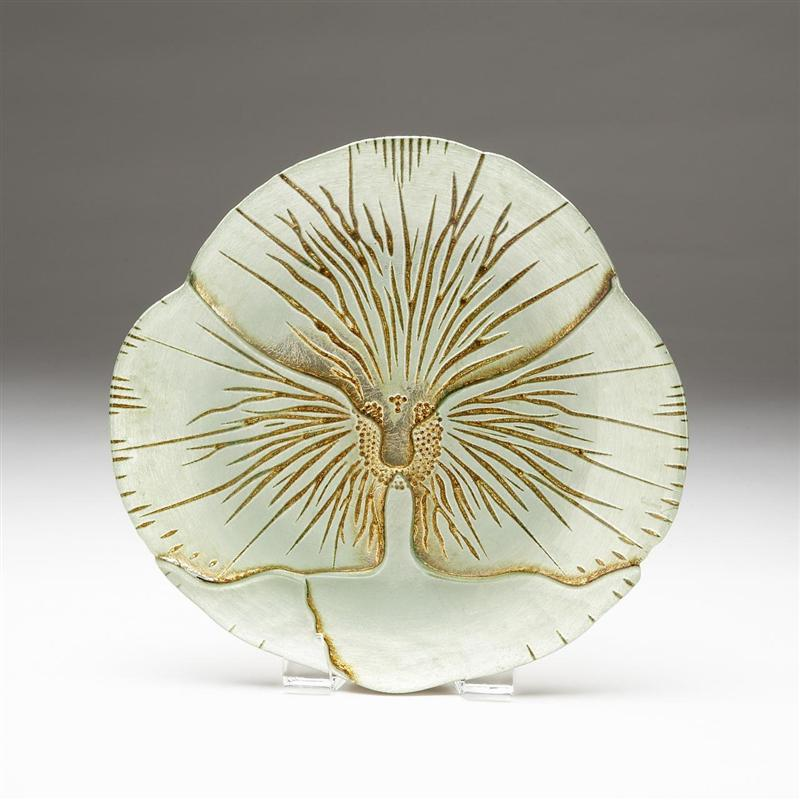 Pansy Side Plate Cream/Gold