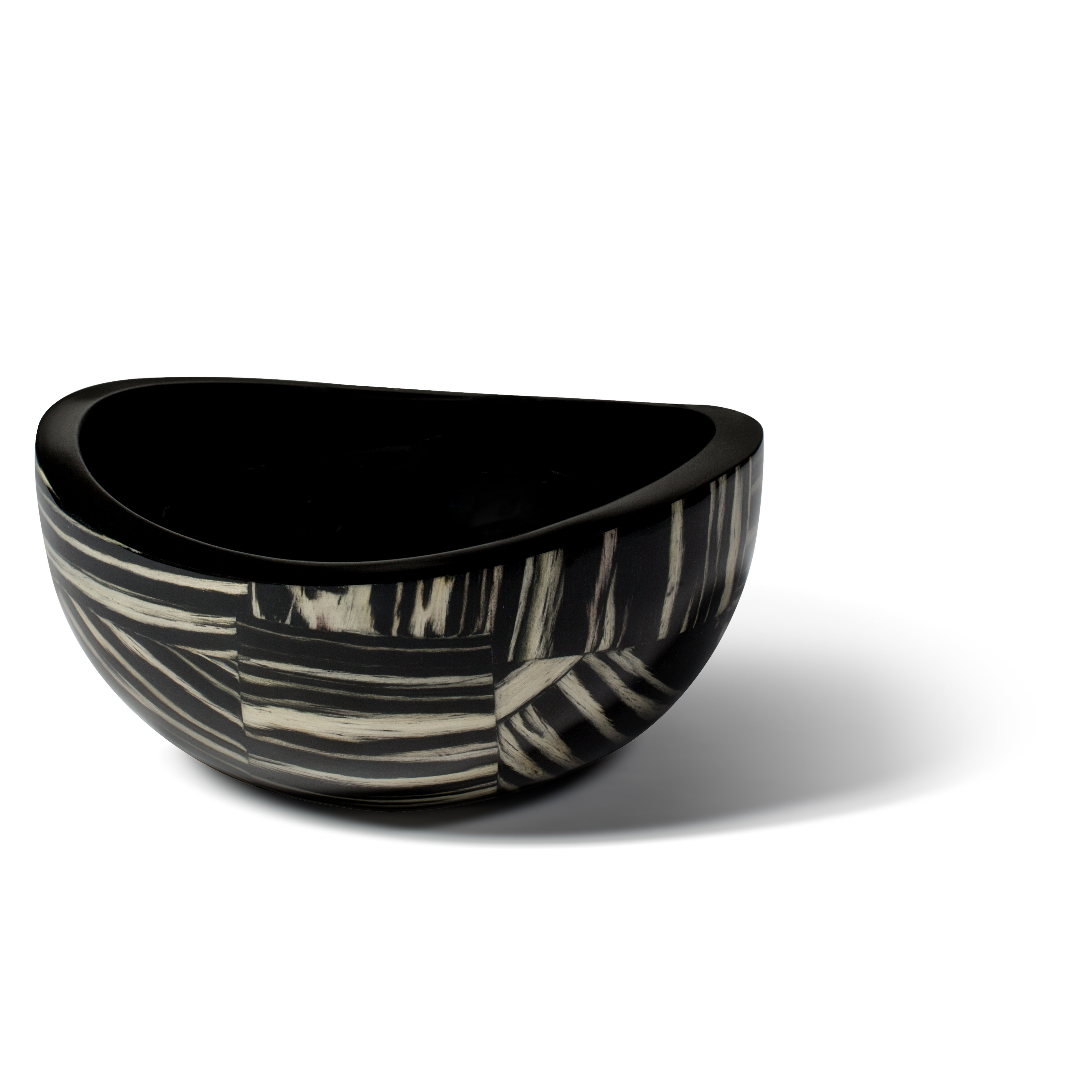 Ebano Veneer Accent Bowl