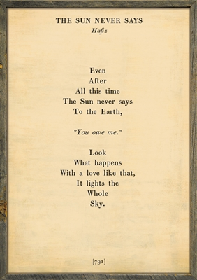 The Poetry Collection - The Sun Never Says-(107)-Cream