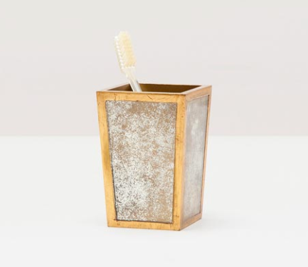 Atwater Antique Gold Brush Holder