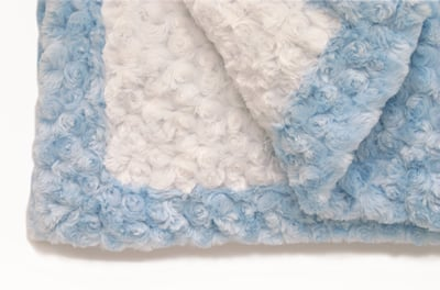 Light Blue White Baby Blanket