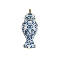 Blue Sultan Ginger Jar from belleandjune.com | vases and temple jars