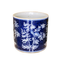 Blue and White Orchid Pot online from belleandjune.com | Home Decor