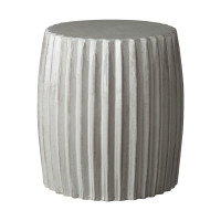Grey Pleated Garden Stool