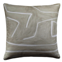 Grafitto Beige & Ivory Decorative Pillow from belleandjune.com | decorative pillows