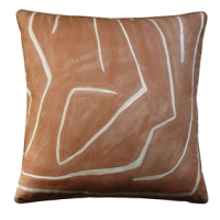 Grafitto Salmon & Cream Decorative Pillow from belleandjune.com | decorative pillows