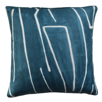 Grafitto Teal & Pearl Decorative Pillow from belleandjune.com | decorative pillows