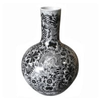 Black Dragon Globular Vase