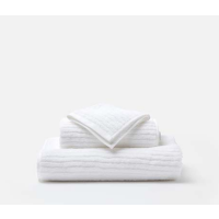 Venice White Bath Towels from belleandjune.com | Towels