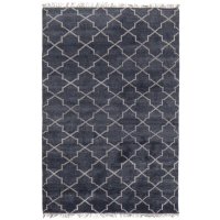 HandKnotted Terrace Navy Blue from belleandjune.com | Rugs