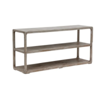 Belle and June Home Reclaimed Wood Console Table with Shelf