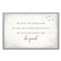Go Into The World Vintage Magnet Board from belleandjune.com | magnet board