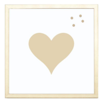 Petal Lane Gold Heart Magnet Board from belleandjune.com | magnet board