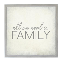 Petal Lane All We Need Is Family Magnet Board from belleandjune.com | magnet board