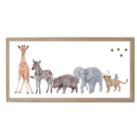 Baby Jungle Animals Family Magnet Board from belleandjune.com | magnet board