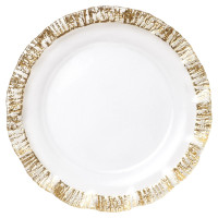 Rufolo Glass Gold Service Plate/Charger by belleandjune.com | Tabletop