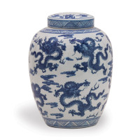 Dragon Navy Jar