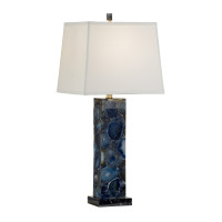 Marble and Agate Blue Table Lamp from belleandjune.com | Table Lamp