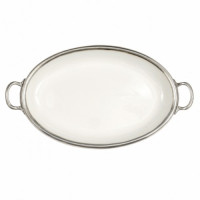 Arte Italica Tuscan Oval Tray with Handles