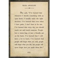 The Book Collection Maya Angelou Art Print