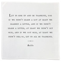 "Cotton Napkins ""Gratitude"" - Set of 10 Asst."