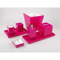 Hot Pink Bath Set from belleandjune.com | Bathroom Accessories