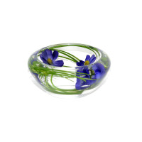 Blue Cosmo Flower Bowl