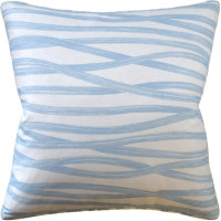 Buy Brushstrokes Sky Blue Decorative Pillow from belleandjune.com | Decorative Pillows