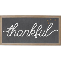 Thankful Chalkboard Magnet Board from belleandjune.com | magnet board