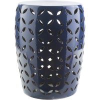 Chantilly Garden Stool - Navy Blue