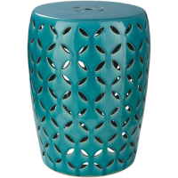 Chantilly Garden Stool - Teal