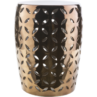 Chantilly Garden Stool - Gold