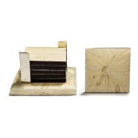 Almendro Coaster Set from belleandjune.com | Candle Holders