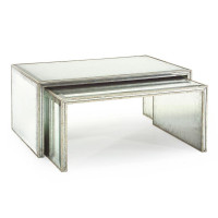 Eglomise Nesting Cocktail Tables (Set of 2)